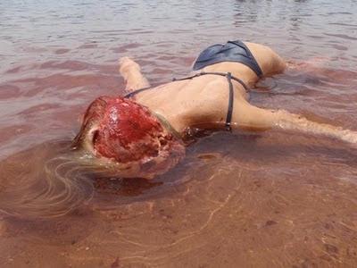 ikan buas memangsa manusia di pantai