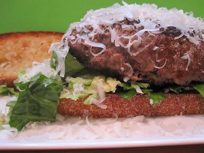 Blogger Burger Club: Caesar Salad and Flank Steak Burgers with Garlic ...