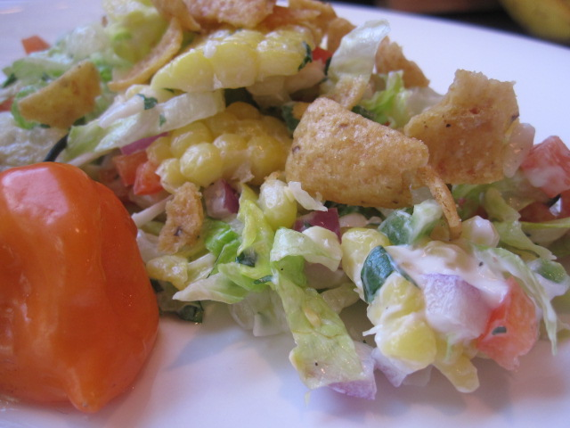 Stirring the Pot: Cheesy-Spicy Corn and Corn Chip Salad