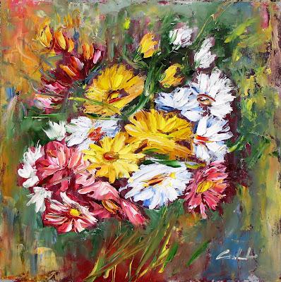 Nel mondo di krilu 39 ancora crisantemi dipinti for Fiori dipinti ad olio