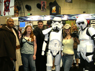 Storm troopers and Jedi at Comic Con