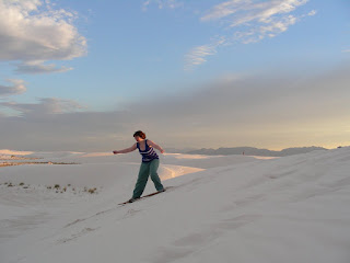 surfing White Sands