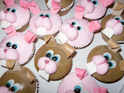 Here are some funny bunny cupcakes that I made for my son's preschool class.