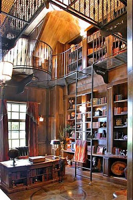 2 story library by via flickr