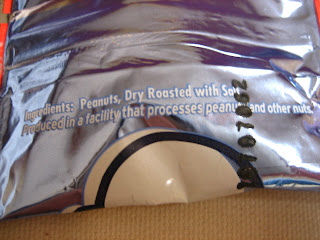 Ingredients: Peanuts, Dry Roasted with Salt. Produced in a facility that processes peanuts and other nuts.