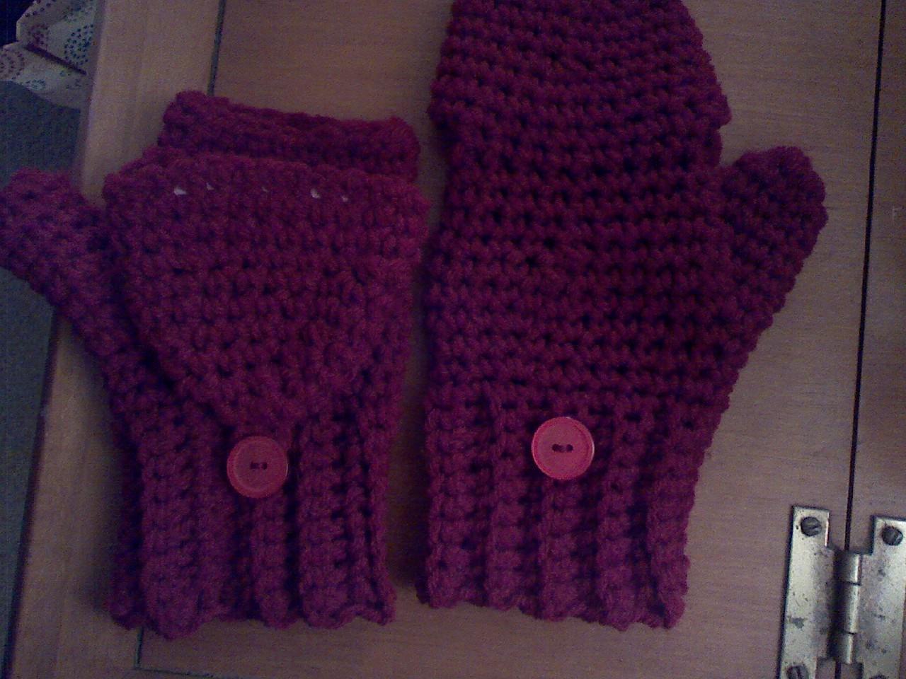 Free Crochet Patterns Flip Top Mittens : The Nutritarian Family: Fingerless Gloves, Mittens, Flip ...