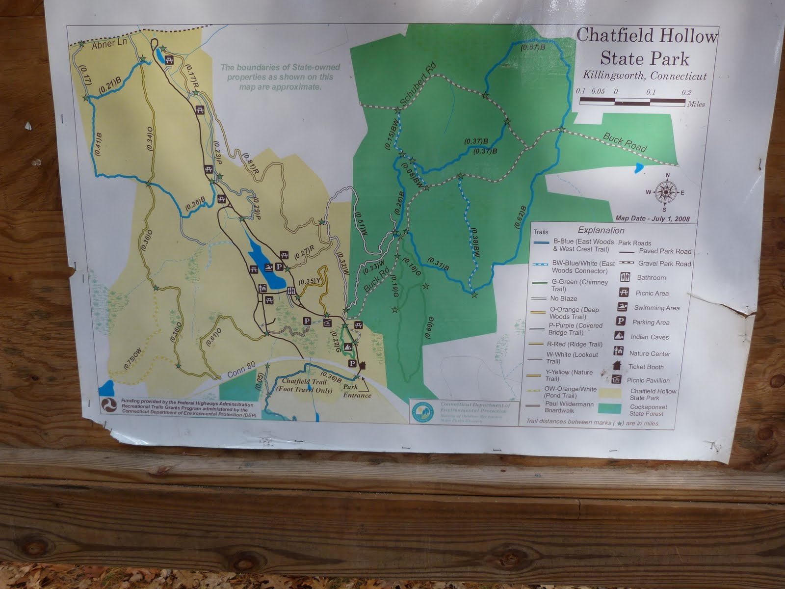 a map of the park a history of the geology can be found at