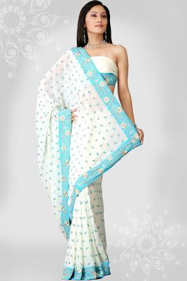 indian party wear saree