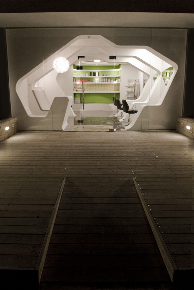 Futuristic barbershop interior design israel most beautiful houses in the world - Barber shop interior ...