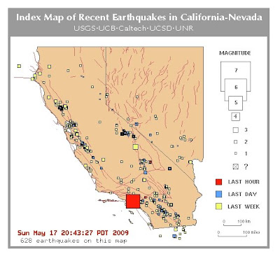 recent earthquakes in california. from Recent Earthquakes in