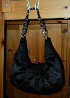 black croissant bag