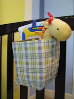 hanging crib toy bag