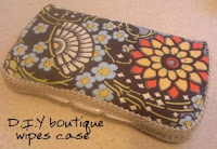 DIY boutique wipes case