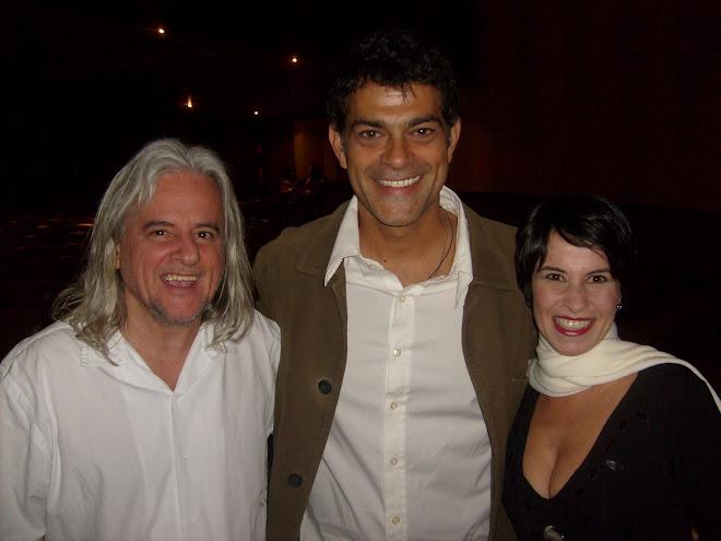 Rênio, Eduardo Moscovis e Célia - RJ 15/07 - Sala Cecília Meirles