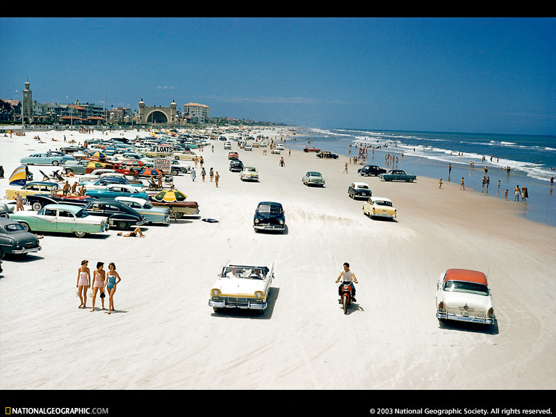 daytona beach spring break. 2) Driving on the each.
