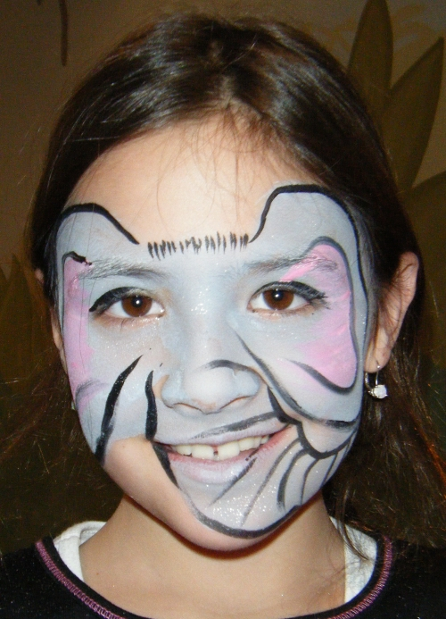 Elephant Face Painting http://njfacepainter.blogspot.com/2011_01_01_archive.html