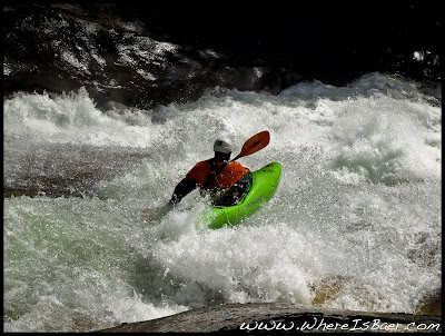WhereIsBaer.com Chris Baer, whitewater kayak slide chile pucon navado wrsi