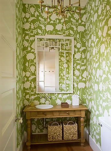 tulips and bliss  wednesday s wallpaper wonders in the powder room
