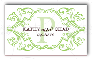 green brown wedding monogram logo