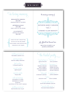 whimsy modern flourish wedding ceremony program