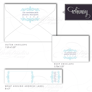 whimsy modern flourish wedding address label invitation monogram