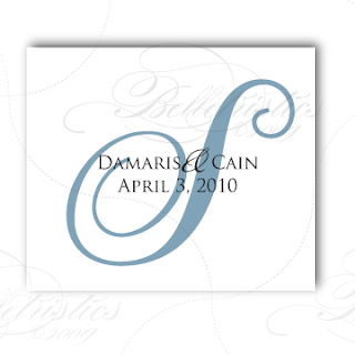 traditional wedding monogram logo design