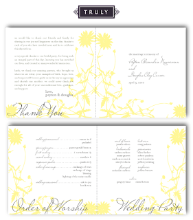vintage floral booklet style wedding ceremony program