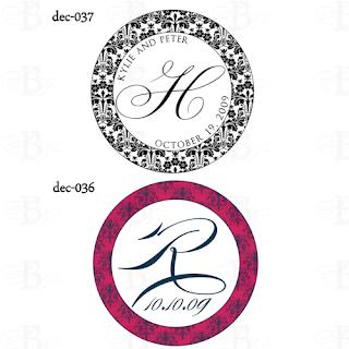 wedding monogram design damask