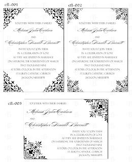 wedding invitation design template flourish decorative