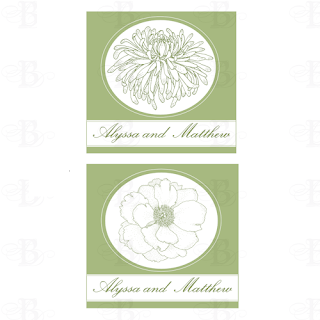 floral wedding monogram design