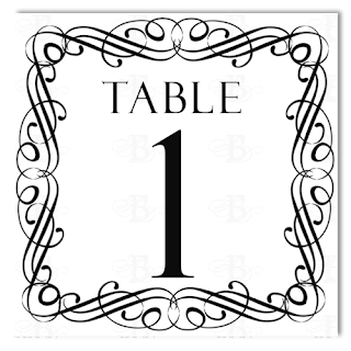 flourish table number card design