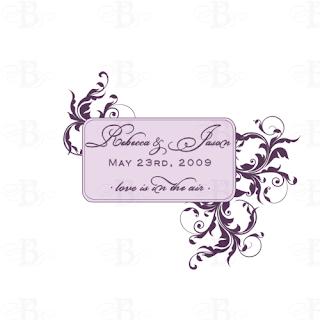 custom wedding monogram design
