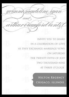 custom invitation design gray and white