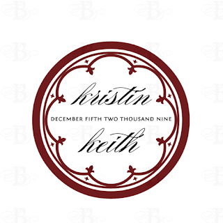 custom wedding logo monogram design
