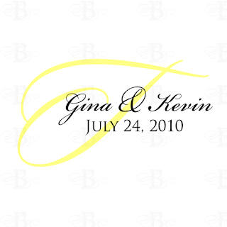 wedding logo monogram design yellow