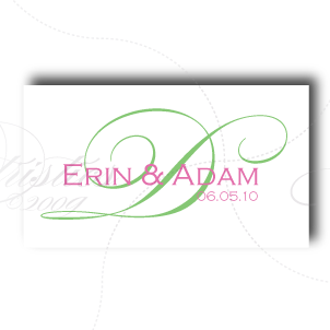 wedding logo monogram design