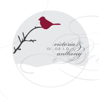 winter cardinal monogram design