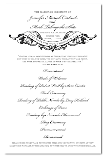 custom wedding ceremony program design