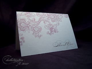 download print lace thank you note