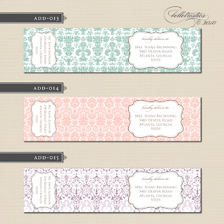 custom wedding wrap around address label design printable diy