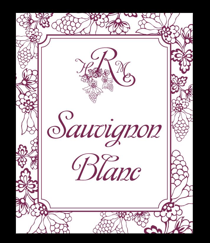 custom grape vineyard wedding wine label design