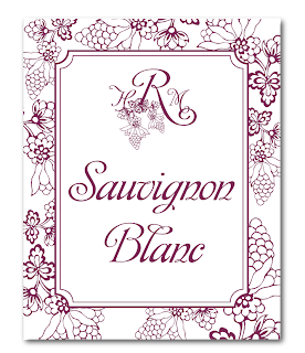 custom grape vineyard wedding wine label design