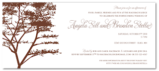 rustic country tree themed bridal shower invitation