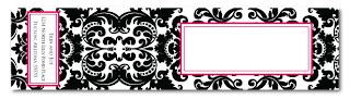 custom damask wrap around address label design