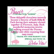 custom flourish pink favor card design