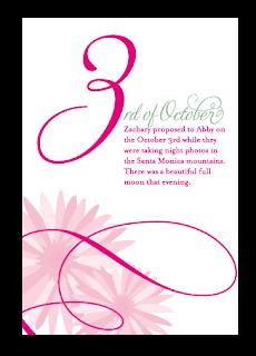 custom flourish daisy table number name design