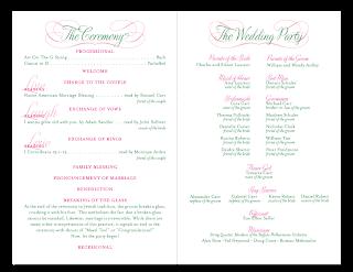 custom booklet ceremony program