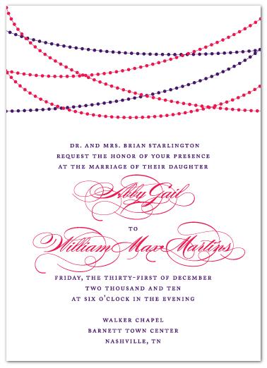 custom pearl themed wedding invitation design