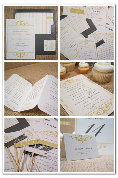bliss ready made stationery design invitation suite