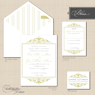 bliss printable diy wedding invitation monogram design